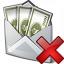 Money Envelope Delete Icon 64x64