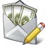 Money Envelope Edit Icon 64x64