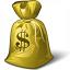 Moneybag Dollar Icon 64x64