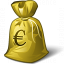 Moneybag Euro Icon 64x64