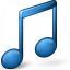 Music Blue Icon 64x64