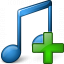 Music Blue Add Icon 64x64