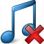 Music Blue Delete Icon 64x64