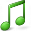 Music Green Icon 64x64