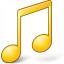 Music Yellow Icon 64x64