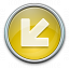 Nav Down Left Yellow Icon 64x64