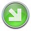 Nav Down Right Green Icon 64x64