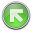 Nav Up Left Green Icon 64x64
