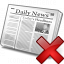 Newspaper Delete Icon 64x64