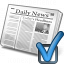 Newspaper Preferences Icon 64x64