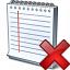 Notebook Delete Icon 64x64