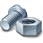 Nut And Bolt Icon 64x64