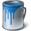 Paint Bucket Blue Icon 64x64