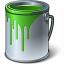 Paint Bucket Green Icon 64x64