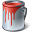 Paint Bucket Red Icon 64x64