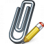 Paperclip Edit Icon 64x64