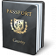 Passport Black Icon 64x64