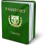 Passport Green Icon 64x64
