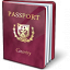 Passport Purple Icon 64x64