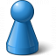 Pawn Blue Icon 64x64