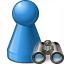 Pawn Blue Find Icon 64x64