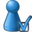 Pawn Blue Preferences Icon 64x64