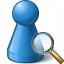 Pawn Blue View Icon 64x64