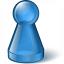 Pawn Glass Blue Icon 64x64