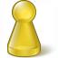 Pawn Glass Yellow Icon 64x64