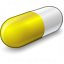 Pill Yellow Icon 64x64