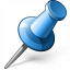 Pin 2 Blue Icon 64x64