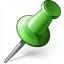 Pin 2 Green Icon 64x64
