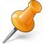 Pin 2 Orange Icon 64x64