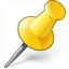 Pin 2 Yellow Icon 64x64