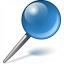 Pin Blue Icon 64x64