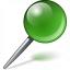 Pin Green Icon 64x64