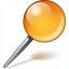 Pin Orange Icon 64x64