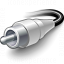 Plug Cinch White Icon 64x64