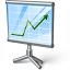 Presentation Chart Icon 64x64
