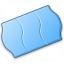 Price Sticker Blue Icon 64x64