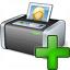Printer 3 Add Icon 64x64