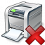 Printer Delete Icon 64x64