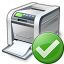 Printer Ok Icon 64x64