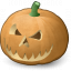 Pumpkin Halloween Icon 64x64