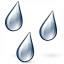 Rain Drops Icon 64x64