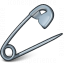 Safety Pin Open Icon 64x64