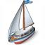 Sailboat Icon 64x64