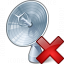 Satellite Dish Delete Icon 64x64