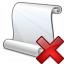 Scroll Delete Icon 64x64