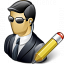 Security Agent Edit Icon 64x64